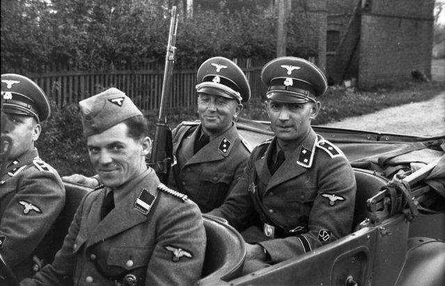 Polen, Verhaftung von Juden, SD-Mnner