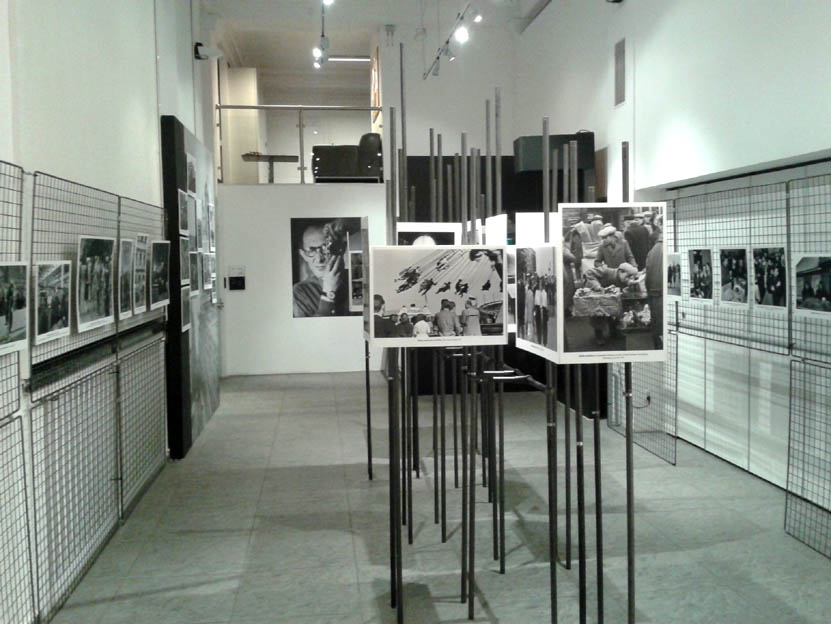 """Sala z wystawą """"Świat Sławnego"""" w Domu Spotkań z Historią w Warszawie, 20.12.2012."""