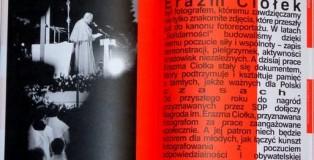 """""""Forum dziennikarzy"""" z grudnia 2012 r. Pierwsze strony prezentacji zdjęć Erazma Ciołka."""