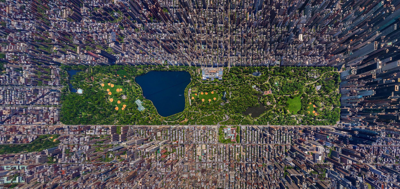 Zdjęcie panoramiczne Central Parku na Manhattanie w Nowym Jorku, fot. Sergey Semonov, Source: AirPano.com