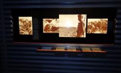 """Frgment wystawy """"Praca przymusowa. Niemcy, robotnicy przymusowi i wojna"""""""