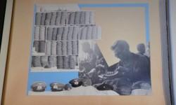 Strona albumu przedstawiającego pracę działu włókienniczego getta Litzmannstadt  wykonanego wiosną 1942 r. dla szefa niemieckiej administracji getta Hansa Bibowa.