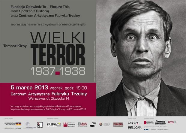 """Zaproszenie na wystawę """"Wielki terror 1937-38"""""""