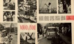 """Jan Kosidowski, Fotoreportaż: Wrota Indii, """"Świat"""", nr 1 z 1963 r., s. 6-7, MNW"""