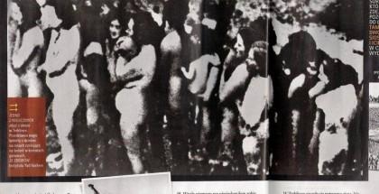 """Fragment """"Newsweek Historia"""" z błędnie opisaną fotografią z egzekucji Żydów z getta w Mizoczu"""
