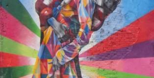 Mural Eduardo Kobry na ścianie budynku przy 25 ulicy na rogu z 10 aleją w Nowym Jorku, 18 maja 2013, Fot. T. Stempowski