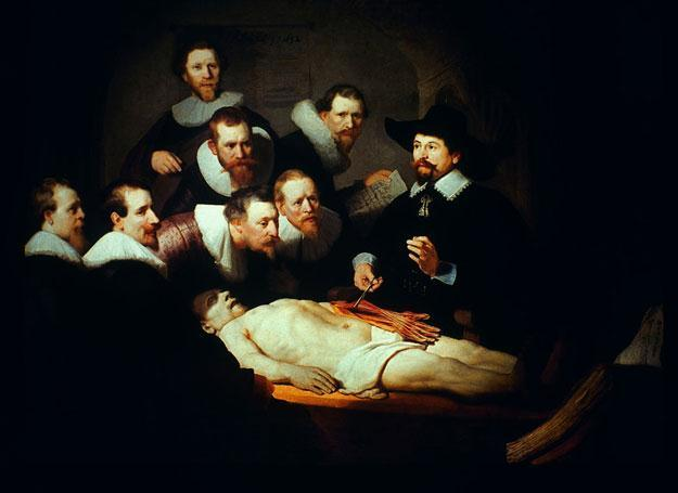 """""""Lekcja anatomii doktora Tulpa"""" Rembrandta."""