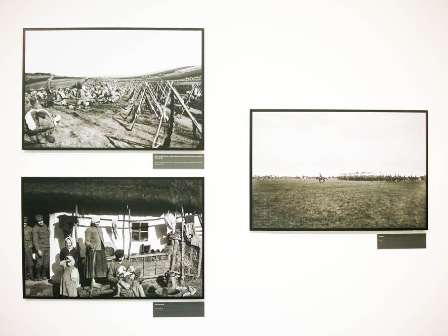 """Wystawa """"Fotografowie I wojny: Brož, Myšička, Rajman"""". Fotografie Gustava Broža."""