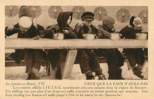 Karta pocztowa wydana przez Międzynarodową Unię Ratowania Dzieci (L'Union Internationale de Secours aux Enfants)