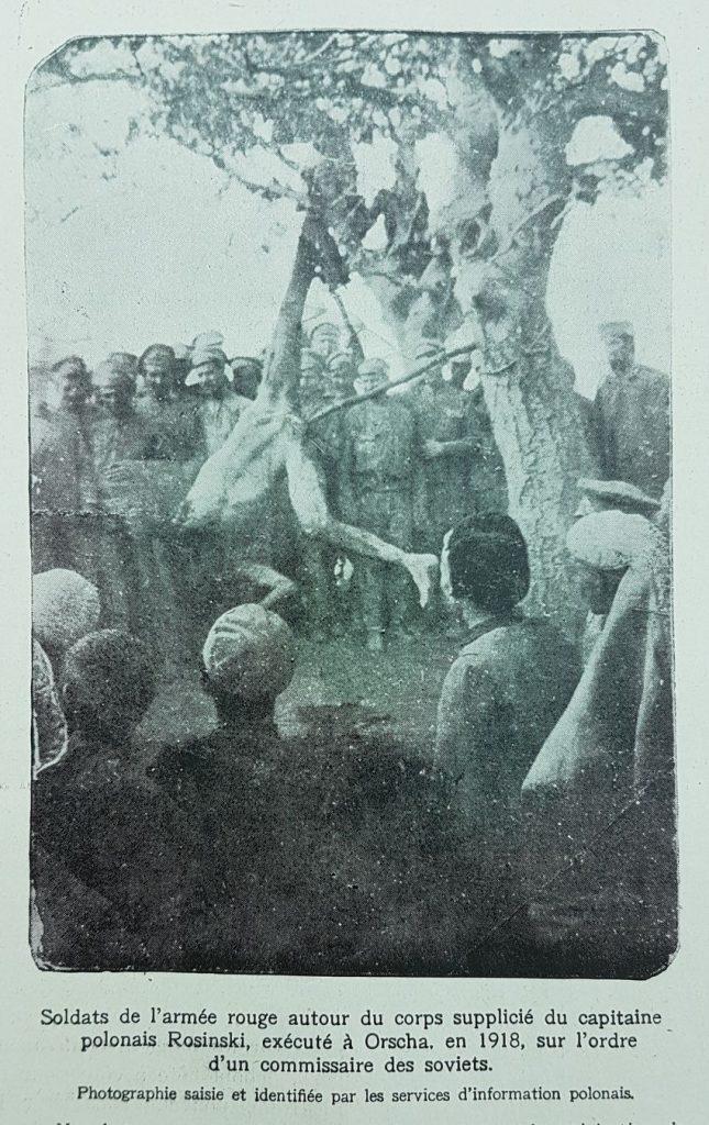 """Fotografia śmierci kpt. Rosińskiego  zreprodukowana w """"L'Illustration"""", nr 4039, 31.07.1920 r."""